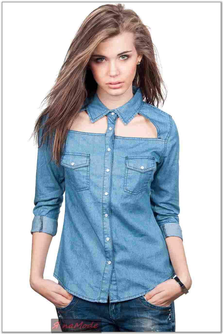 Джинсовую рубашку