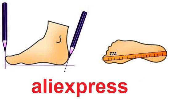 Измерение ступни на aliexpress