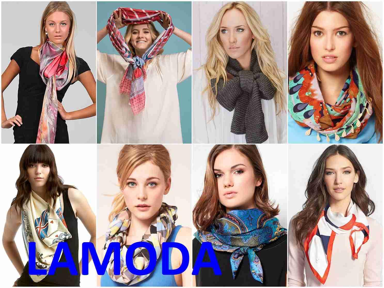 b5c8f17f8218 Женские платки на распродаже Ламода или шарфы и шали в магазинах ...