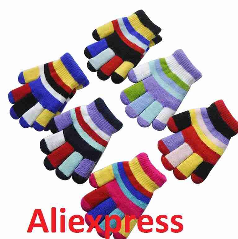 Детские перчатки и варежки с Али экспресс