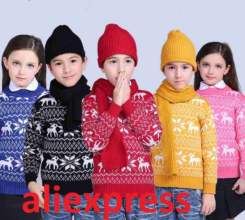 Детские свитера и кофты с алиэкспресс