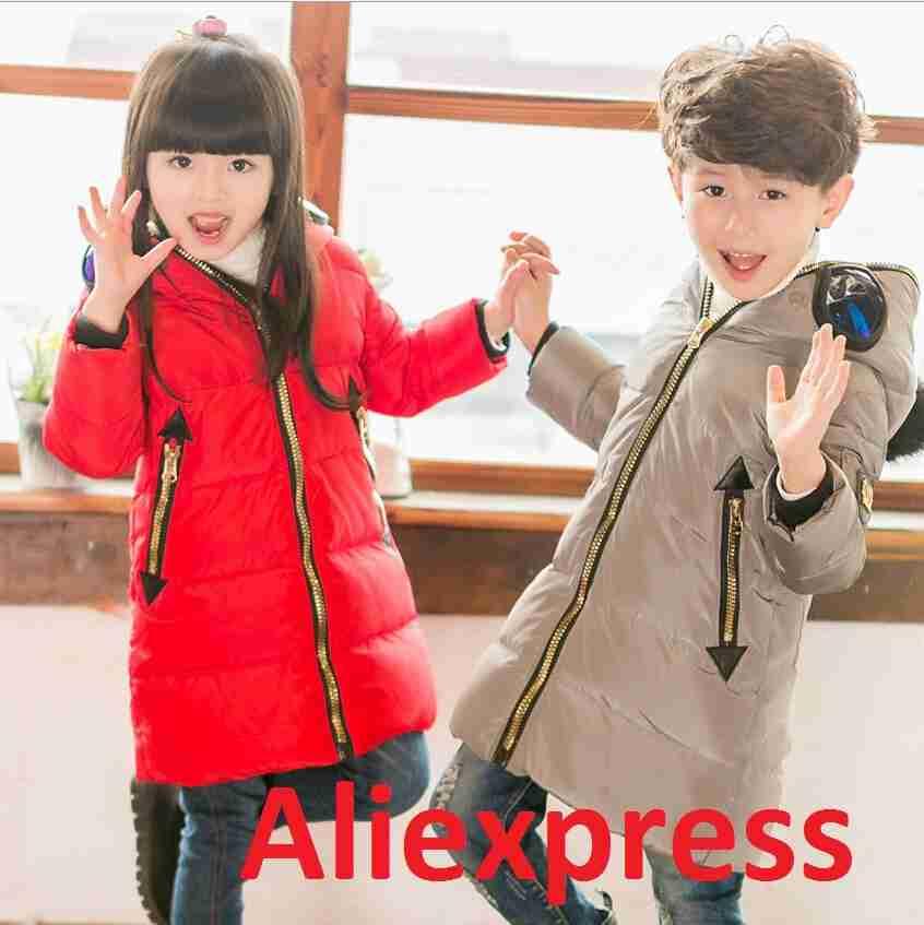 Недорогие зимние детские пуховики с алиэкспресс