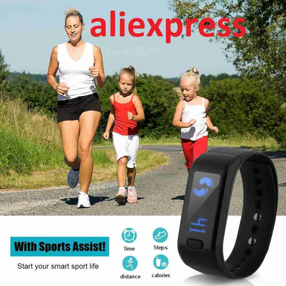 Фитнес-трекеры или спортивные смарт браслеты на aliexpress