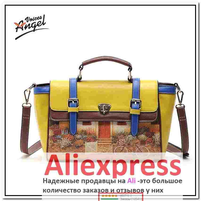 3e2be45436f2 алиэкспресс дорожная сумка, Angel Voices! бренд печатных ПУ мешок старинных сумки  женские средний большой
