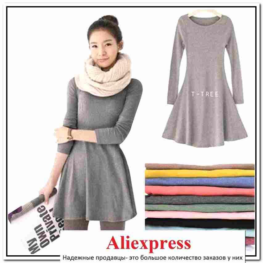 bf80093810a алиэкспресс теплые платья